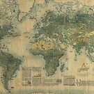 Antique Map of the World's Resources by CountLatchula