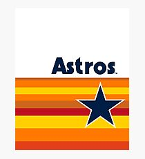 Houston Astros rainbow uniform Photographic Print