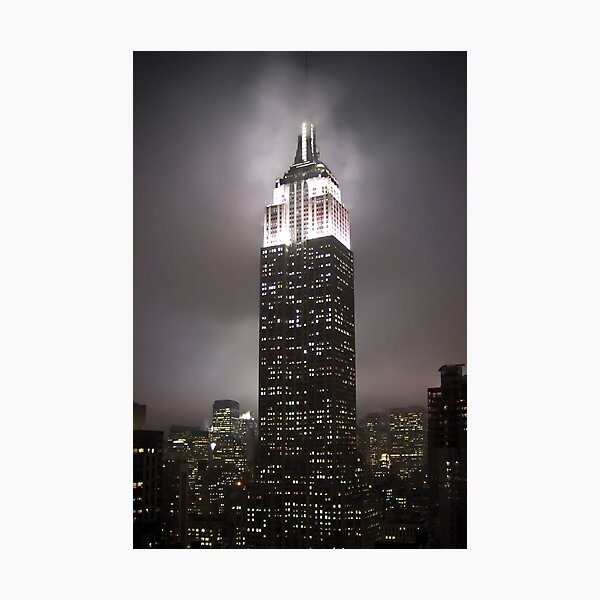 Empire State Building in the fog Photographic Print