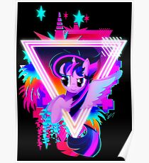 Neon Twilight Sparkle Poster