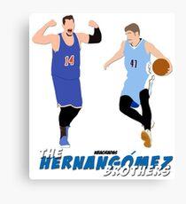 The Hernangomez Brothers' Canvas Print