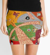 Flying Golden Monks Mini Skirt