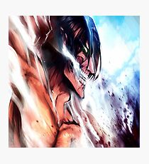 Eren titan - attack on titans Photographic Print