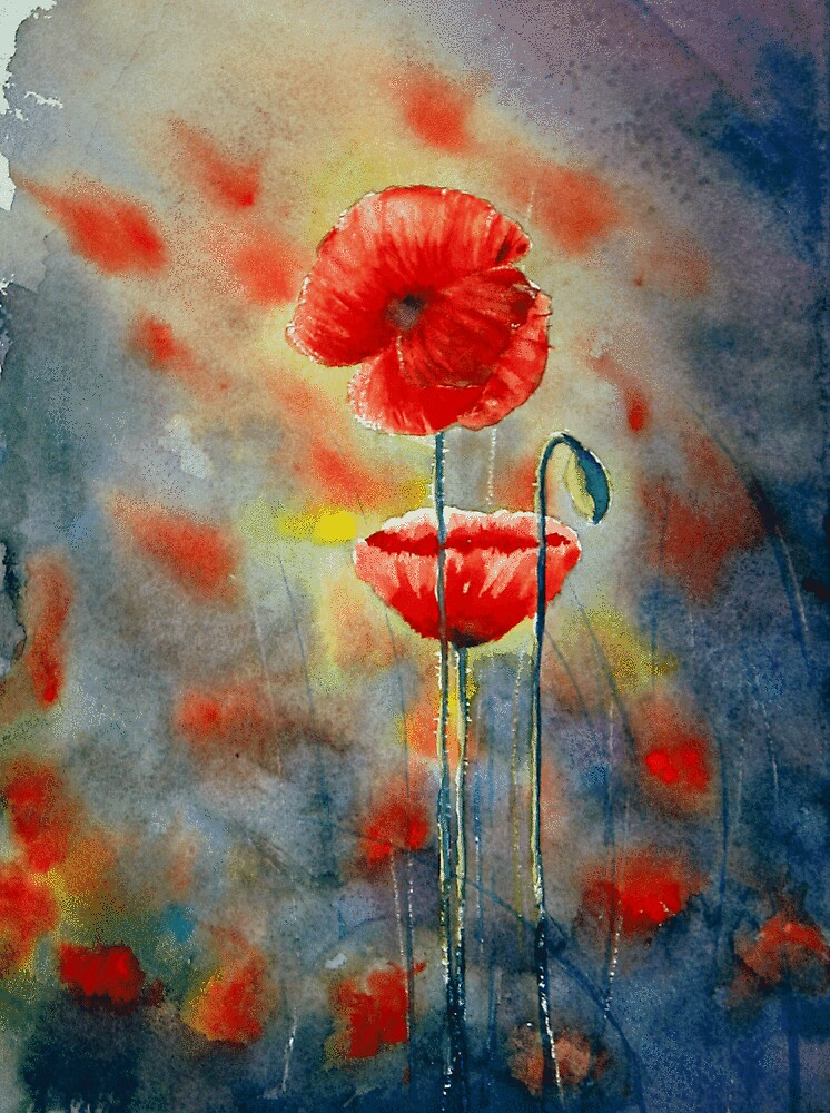 Poppies wild & loose by LorusMaver
