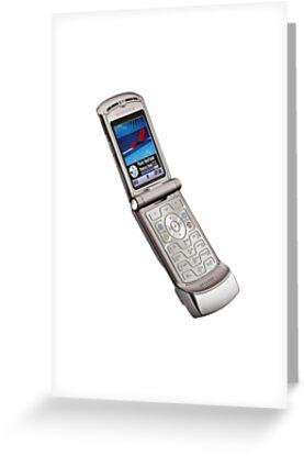 Motorola flip phone greeting cards by dishess redbubble motorola flip phone by dishess m4hsunfo