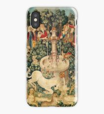 UNICORN IS FOUND / Fountain,Other Animals,Green Floral iPhone Case/Skin