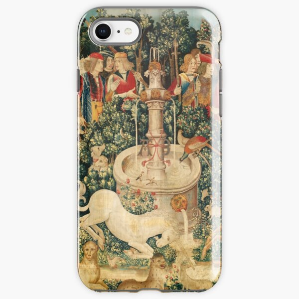 UNICORN IS FOUND / Fountain,Other Animals,Green Floral iPhone Tough Case