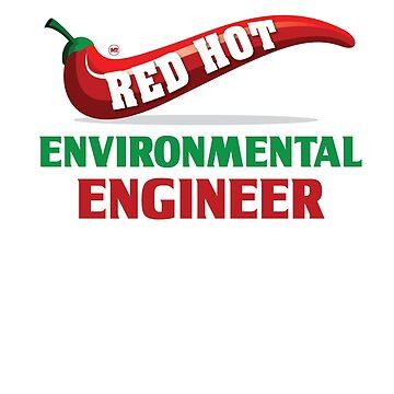 Red Hot Environmental Engineer Design by digitalbarn
