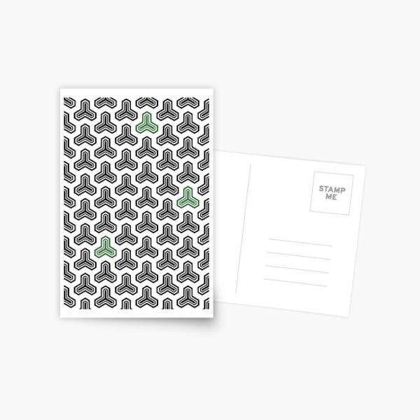 arrow in black & green Postcard