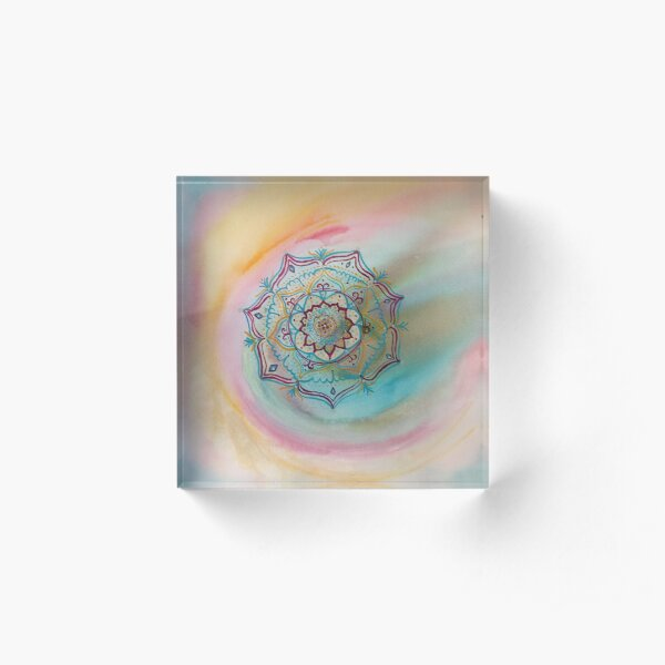 Mandala free of edges Acrylic Block