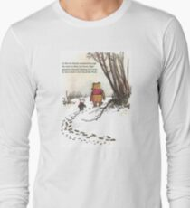 winnie the pooh famous quote piglet Long Sleeve T-Shirt