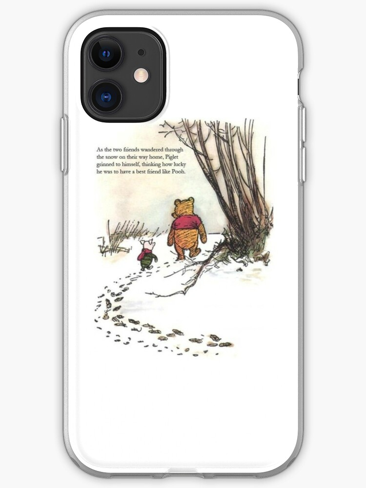 Winnie The Pooh Art Starry Night Pooh and Piglet 2 iphone case