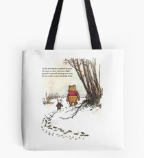 winnie the pooh famous quote piglet Tote Bag