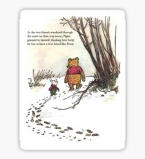 winnie the pooh famous quote piglet Sticker