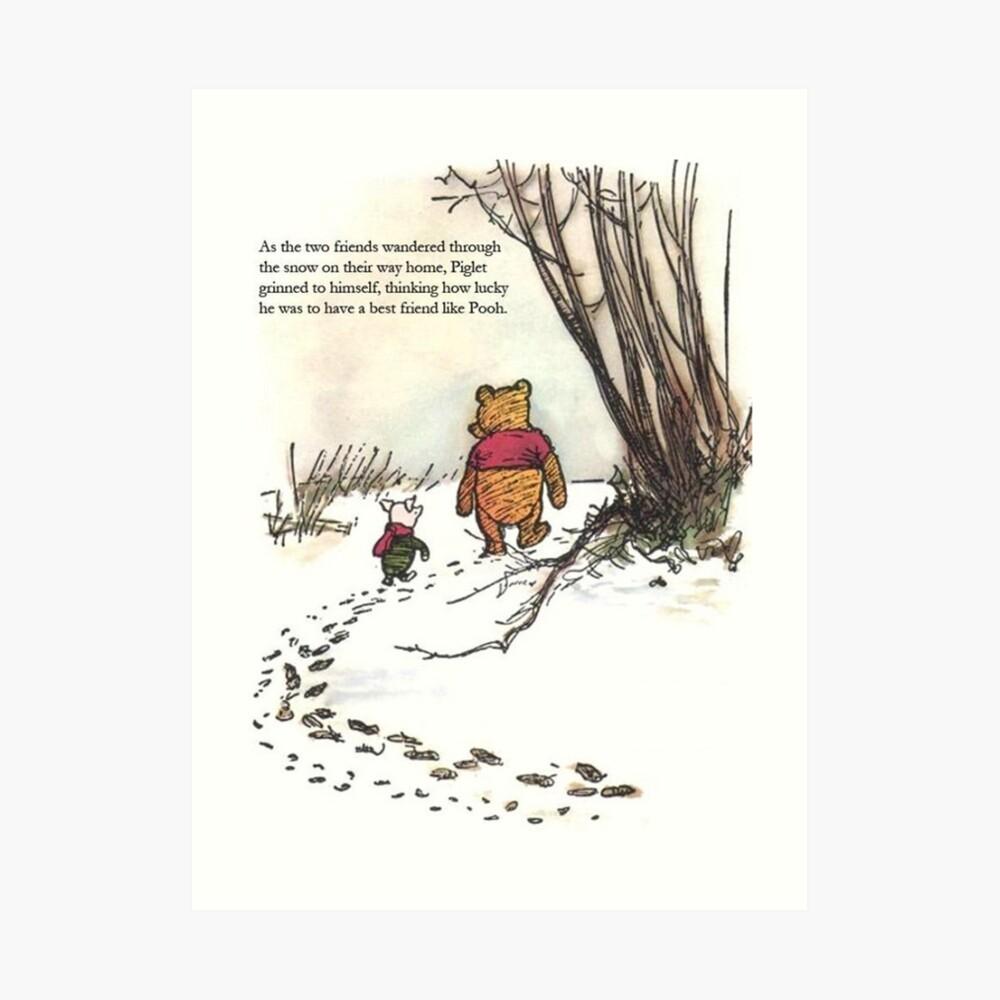 winnie the pooh famous quote piglet Kunstdruck