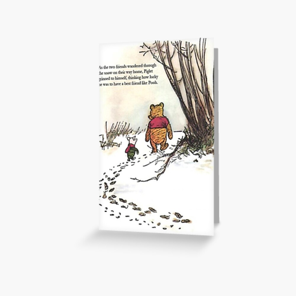 winnie the pooh famous quote piglet Greeting Card