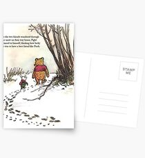 winnie the pooh famous quote piglet Postcards
