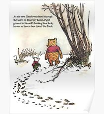 winnie the pooh famous quote piglet Poster