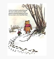 winnie the pooh famous quote piglet Photographic Print
