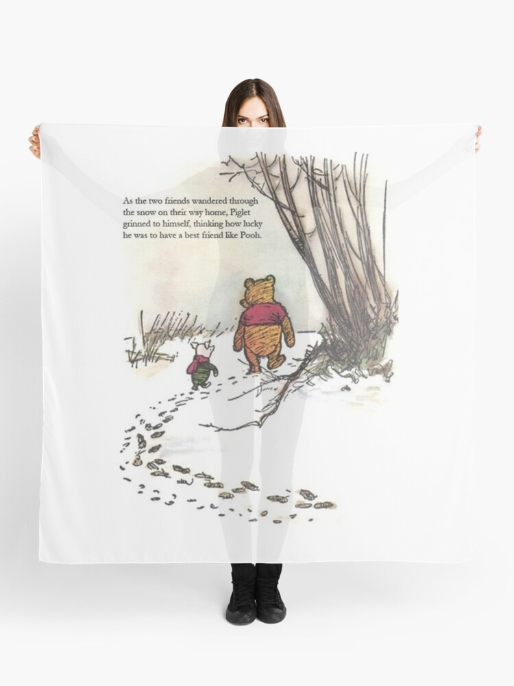 winnie the pooh famous quote piglet | Scarf