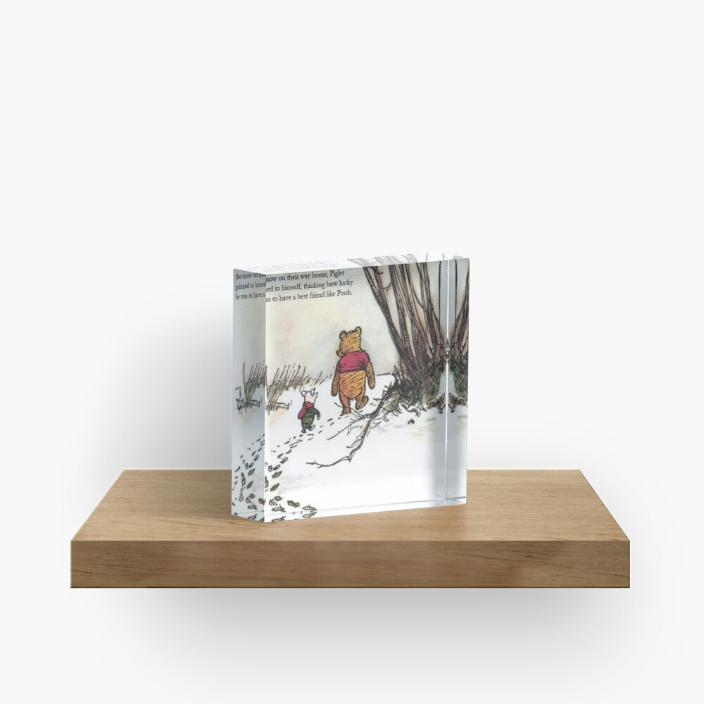 winnie the pooh famous quote piglet Acrylic Block