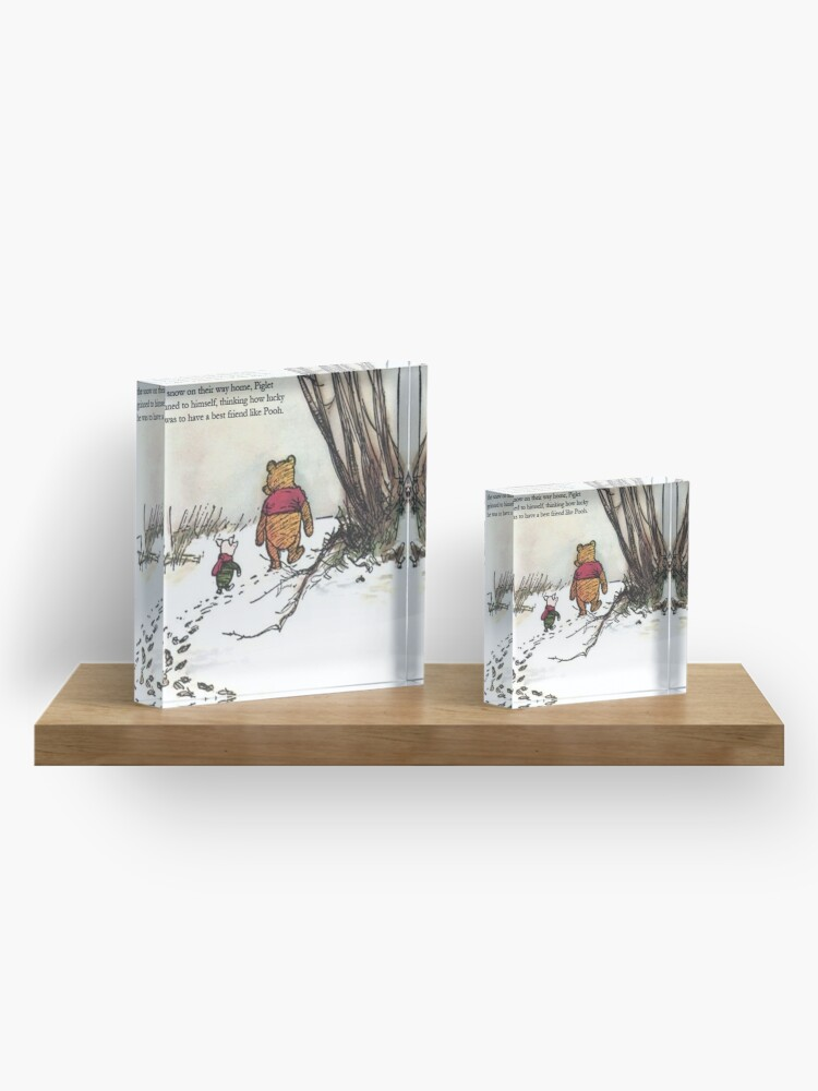 Alternate view of winnie the pooh famous quote piglet Acrylic Block