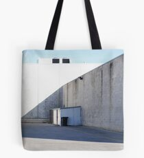 Shed in Shadow, White Walls Tote Bag