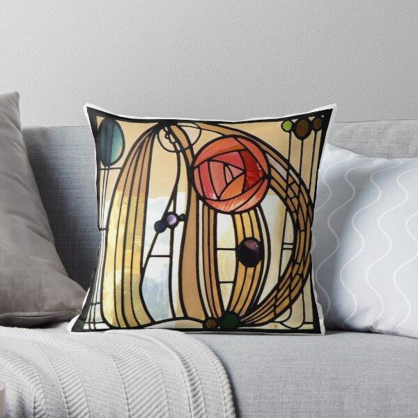 MacIntosh Rose Throw Pillow