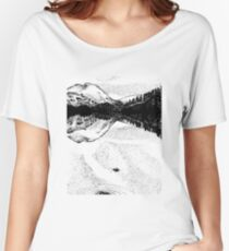 Thirlmere in snow Women's Relaxed Fit T-Shirt