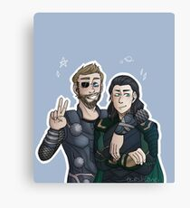 Asgardian brothers Canvas Print