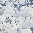 alps aerial view by bruno benedetti