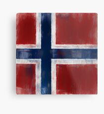 Bouvet Island Flag Reworked No. 1, Series 2 Metal Print
