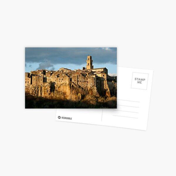 Pitigliano Tuscany Small Town Postcard