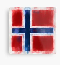 Bouvet Island Flag Reworked No. 2, Series 1 Metal Print