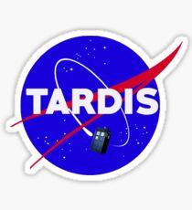 Tardis Nasa Space Parody Sticker