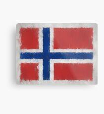 Bouvet Island Flag Reworked No. 66, Series 3 Metal Print