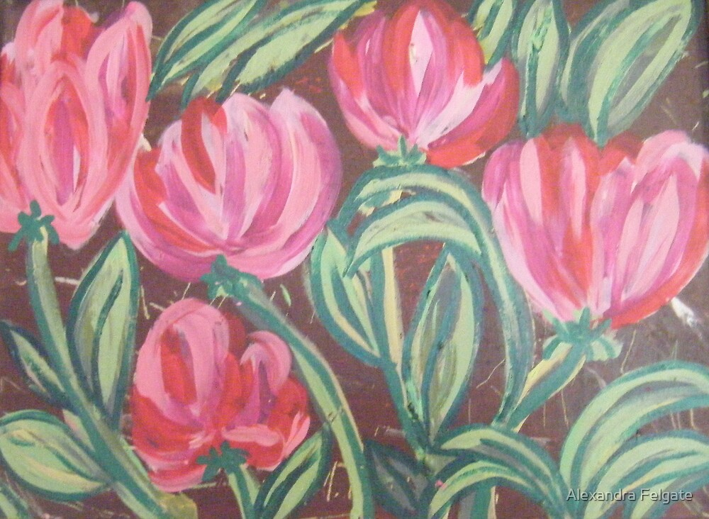 Pink Flowers by Alexandra Felgate