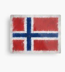 Bouvet Island Flag Reworked No. 66, Series 4 Metal Print