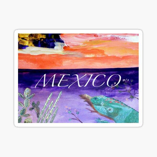 Mexico. Iguana design Sticker