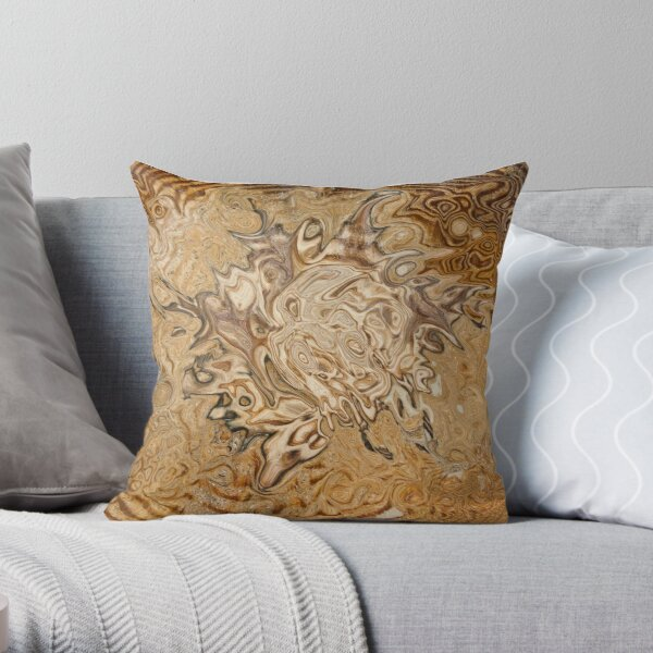 total brown Throw Pillow