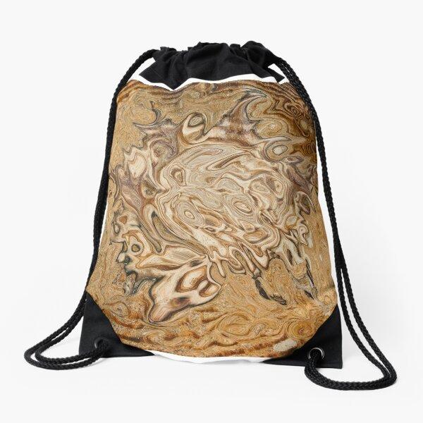 total brown Drawstring Bag