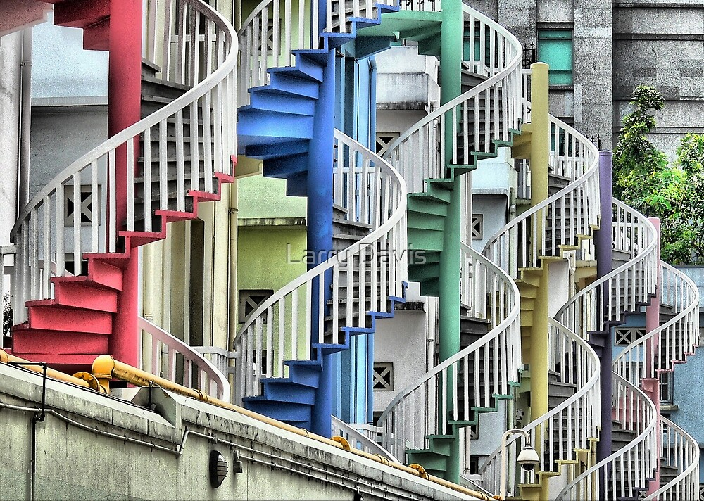 To Go Up or Down in Circles in Singapore. by Larry Davis
