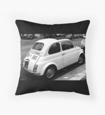 The Parked Fiat 500 Throw Pillow