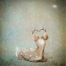Winter Fawn Glitter Antlers by Monica Michelle