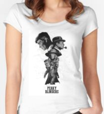 Peaky Blinders Art Women's Fitted Scoop T-Shirt