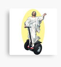 Holy Segway Jesus Canvas Print