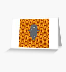 Little Seal Playing in a Bowl of Spaghetti Greeting Card
