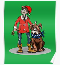 Christmas Dog Holiday Fun Funny Dog Lover  Poster