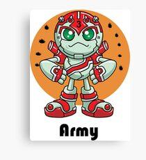 "Robobot ""Off to Mars"" / Three / Robot Army Canvas Print"