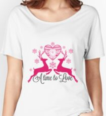 Deers. A time to love. Women's Relaxed Fit T-Shirt
